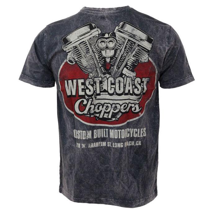 tričko pánské West Coast Choppers - Panhead Vintage - Blue