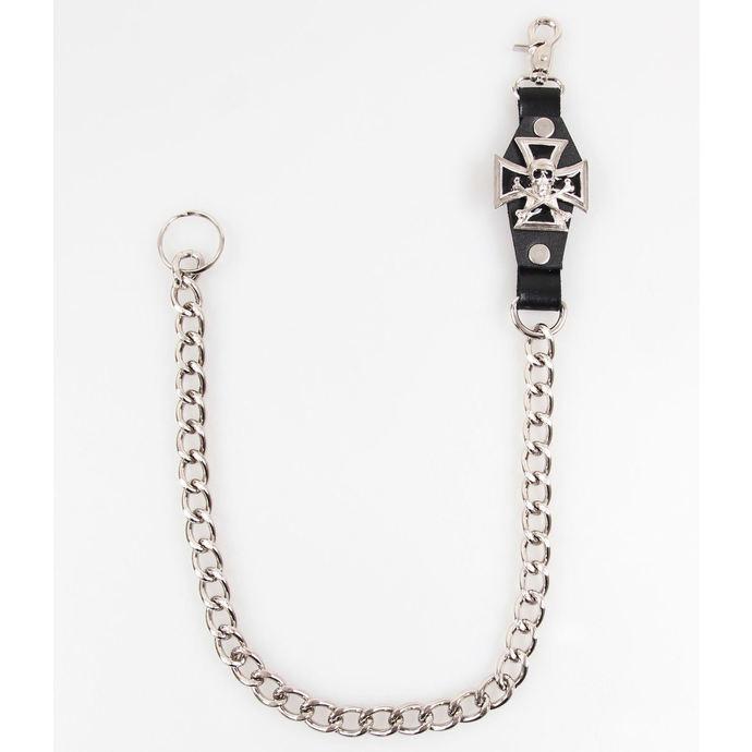 řetěz kříž - lebka