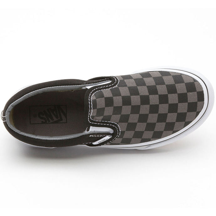 boty VANS - Classic Slip-on - Black/Pewter Checkerboard
