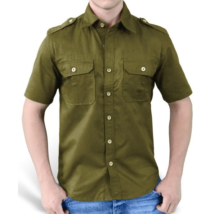 košile SURPLUS - 1/2 Plain Summer - Oliv