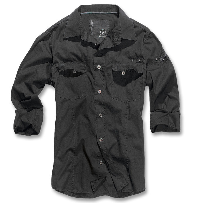 košile pánská Brandit - Men Shirt Slim - Black