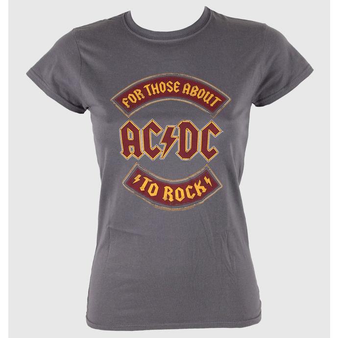 tričko dámské AC/DC - About To Rock Banner - LIVE NATION
