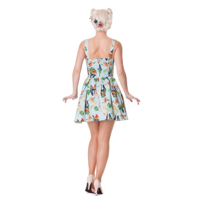 šaty dámské HELL BUNNY - Becky - Blue