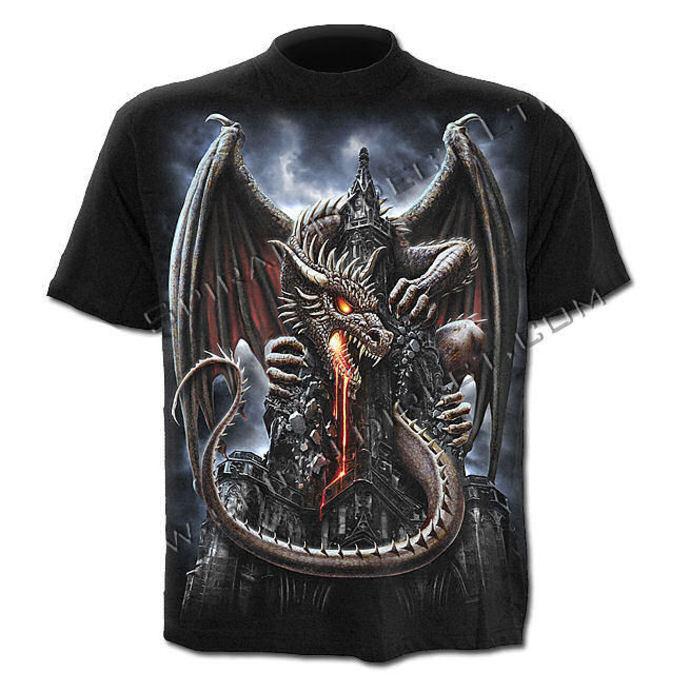 tričko pánské SPIRAL - Dragon Lava - Black