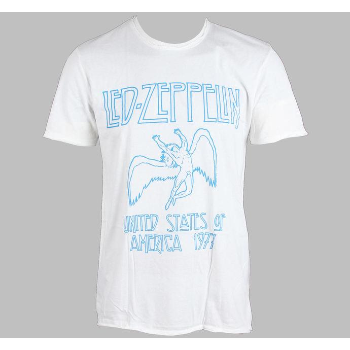 tričko pánské AMPLIFIED - Led Zeppelin - 77 - White