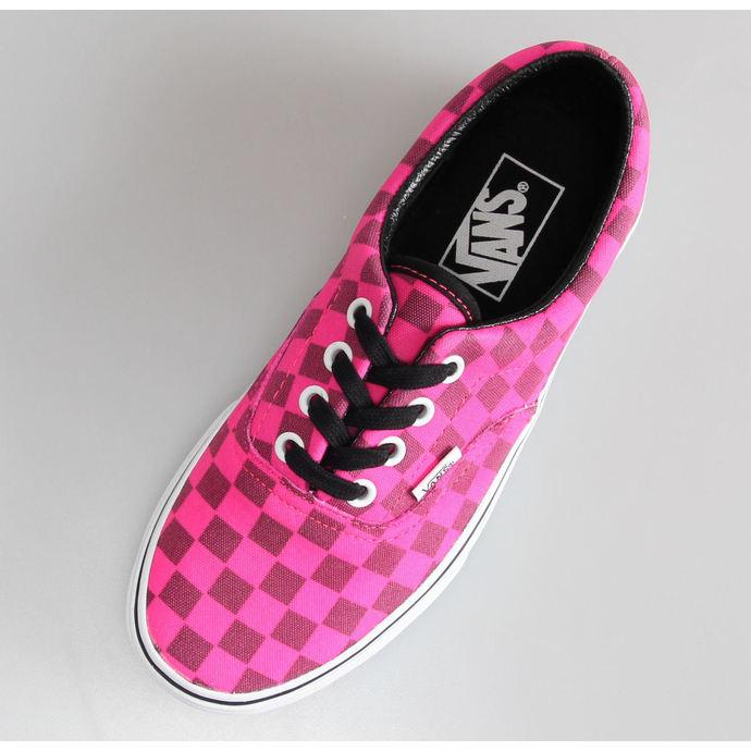 boty dámské VANS - U Era - (Xtuff) neon pink/check