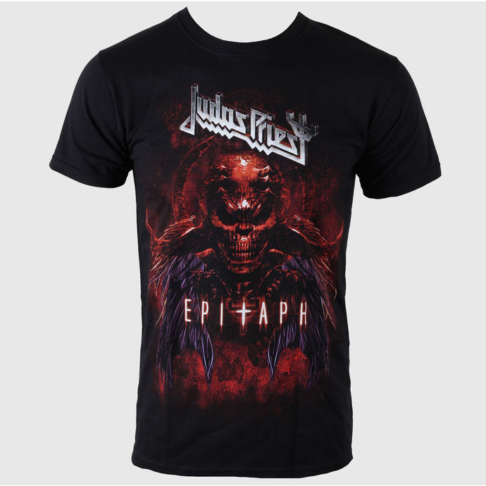 tričko pánské Judas Priest - Epitaph Red Horns - ROCK OFF