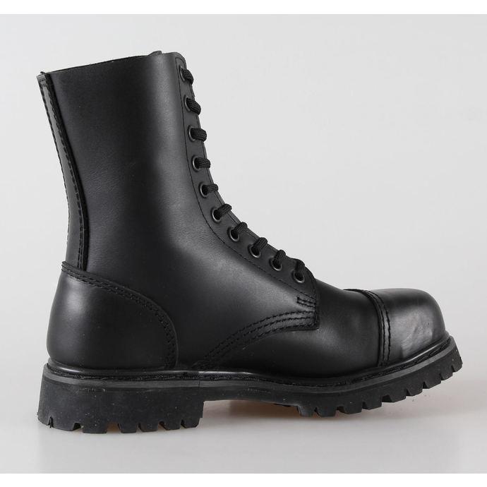 boty kožené 10dírkové BRANDIT - Phantom Black