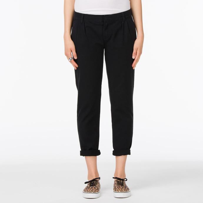 kalhoty dámské VANS - G Pleated Chino - Black