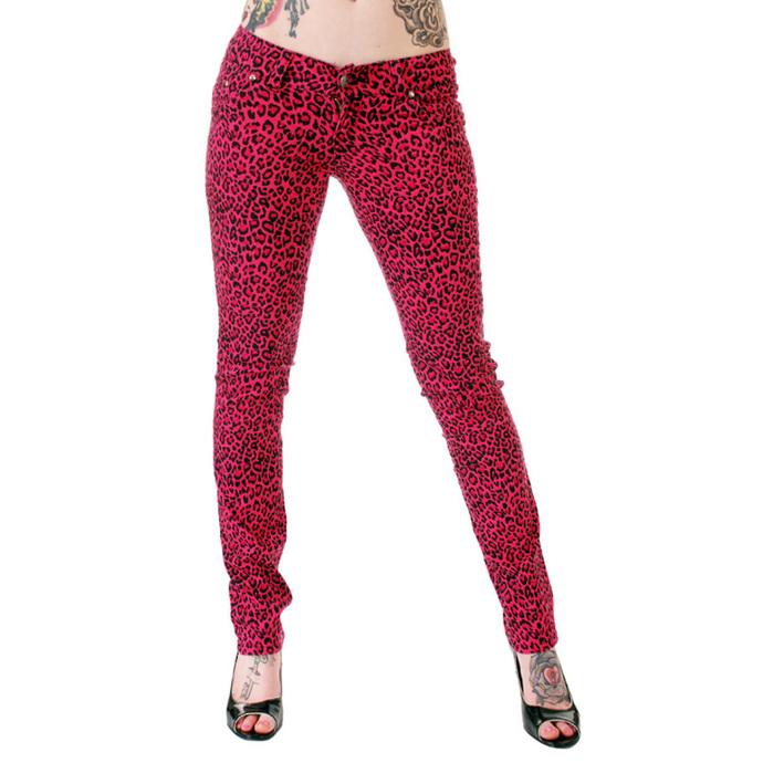 kalhoty dámské 3RDAND56th - Print Skinnies - Pink