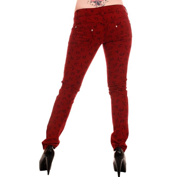 kalhoty dámské 3RDAND56th - Swallow Skinny Jeans - Wine