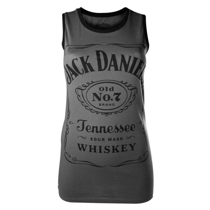 tílko dámské Jack Daniels - Charcoal - BIOWORLD