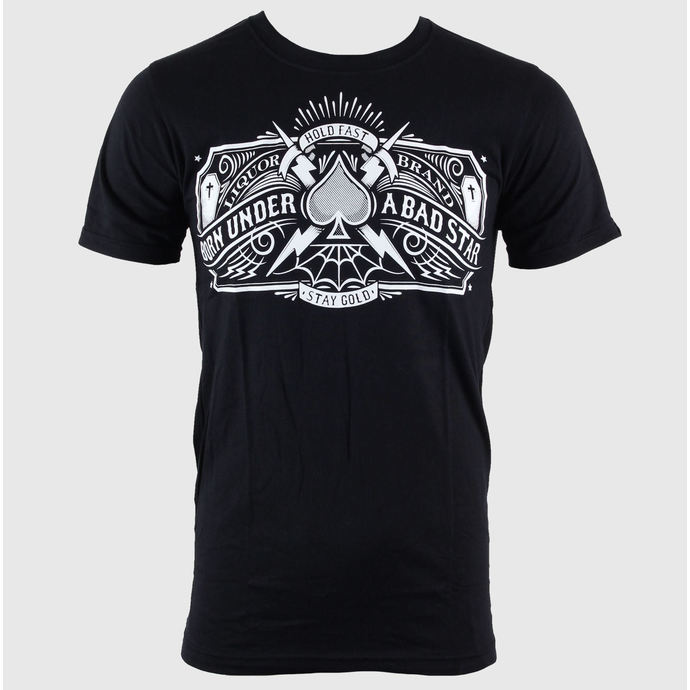 tričko pánské LIQUOR BRAND - Bad Star - Logo - Black