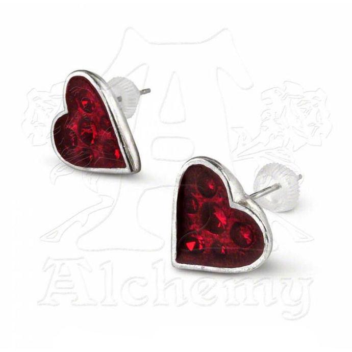 náušnice ALCHEMY GOTHIC - Heart's Blood