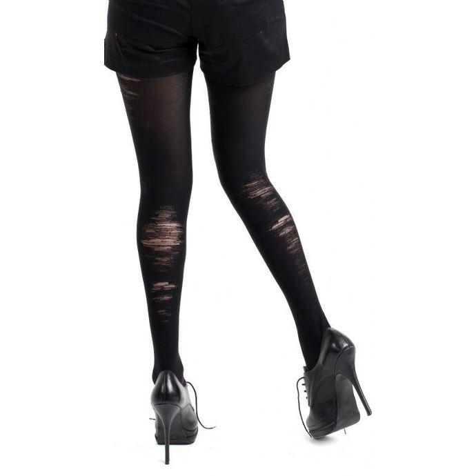 punčocháče PAMELA MANN - Bruised Opaque Tights Black