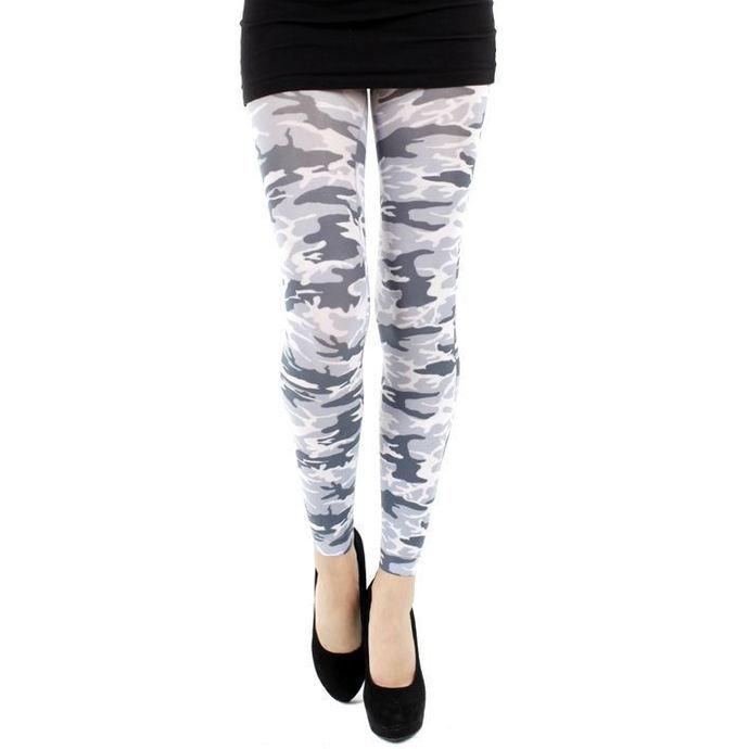 legíny (punčocháče) PAMELA MANN - Military Footless Tights - Black/White
