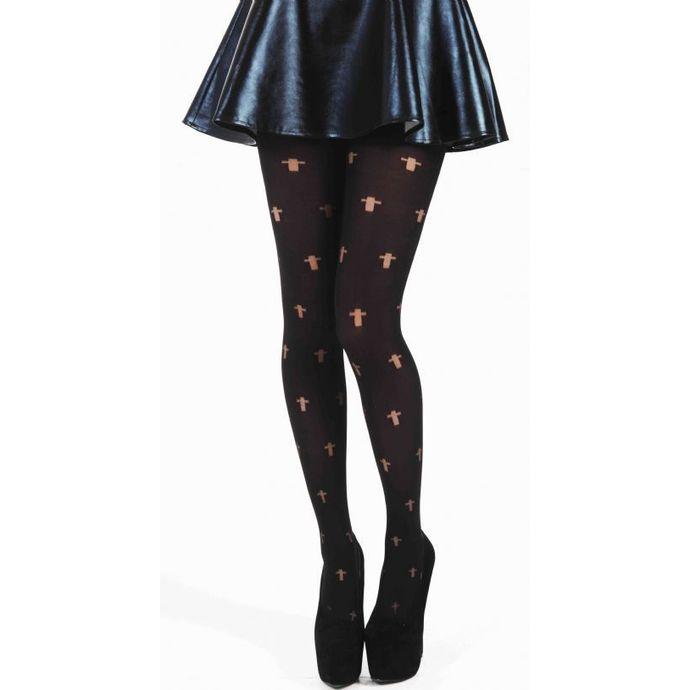 punčocháče PAMELA MANN - Opaque Cross Tights - Black