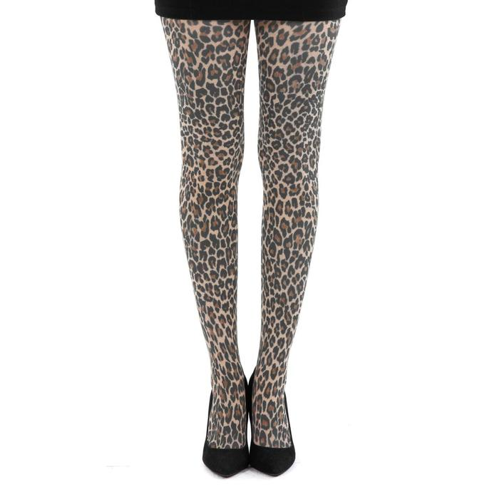 punčocháče PAMELA MANN - Small Leopard Tights - Natural