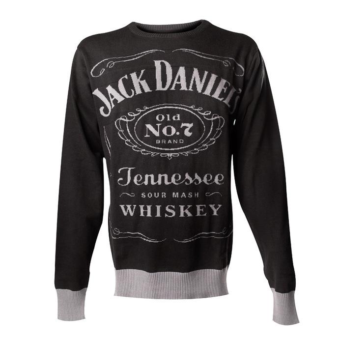 svetr pánský Jack Daniels - Knitted Sweater - Black