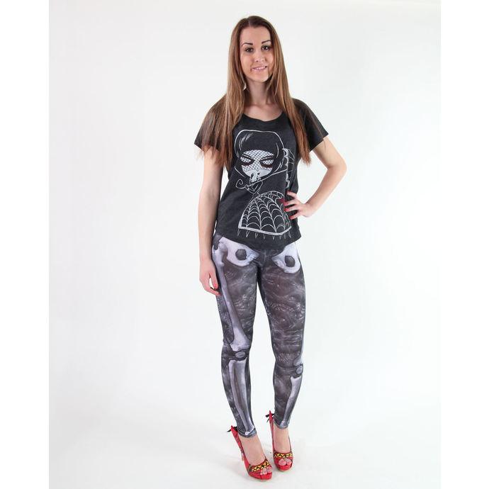 kalhoty dámské (leginy) KREEPSVILLE SIX SIX SIX - Skele-Bone - Black Death
