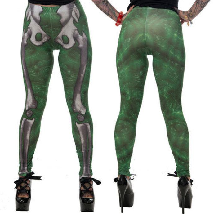 kalhoty dámské (leginy) KREEPSVILLE SIX SIX SIX - Skele-Bone - Slime