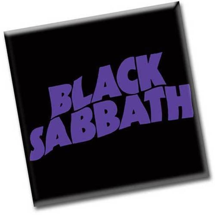 magnet Black Sabbath - Wavy Logo - ROCK OFF