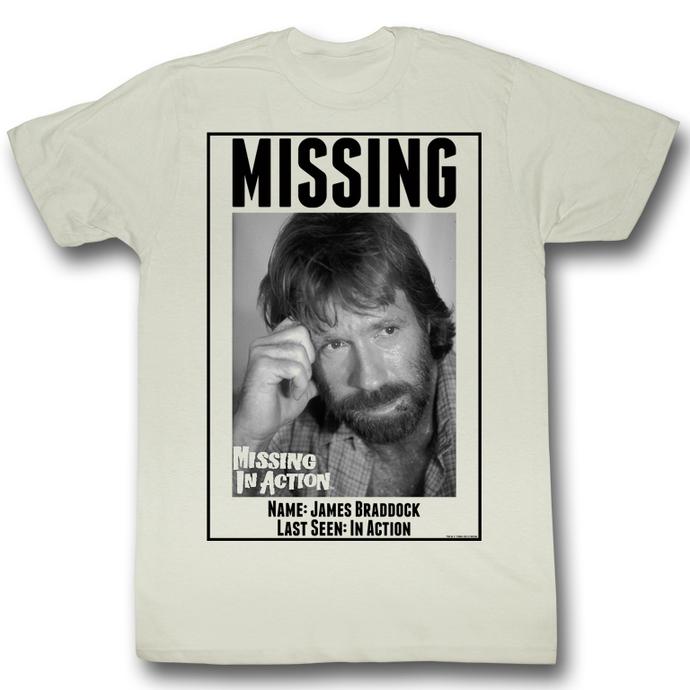 tričko pánské Nezvěstní v boji (Chuck Norris) - Missing - AC