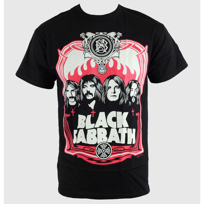 tričko pánské Black Sabbath - Red Flames - Blk - BRAVADO