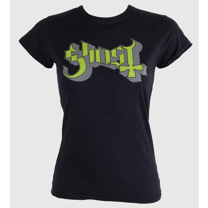 tričko dámské Ghost - Keyline Logo - Green Grey - ROCK OFF