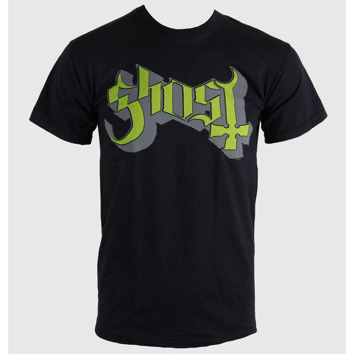 tričko pánské Ghost - Keyline Logo - Green Grey - ROCK OFF