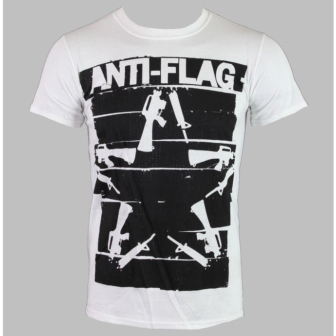 tričko pánské Anti-Flag - Duct Tape Guns Star - White - KINGS ROAD