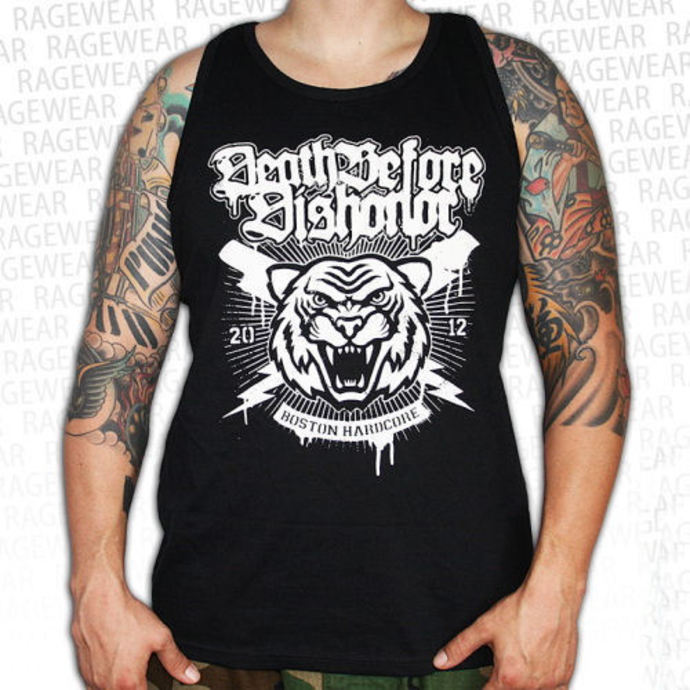 tílko pánské Death Before Dishonor - Tiger - Black - RAGEWEAR