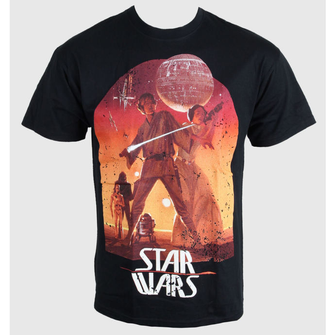 tričko pánské Star Wars - Sunset Poster - Black - PLASTIC HEAD