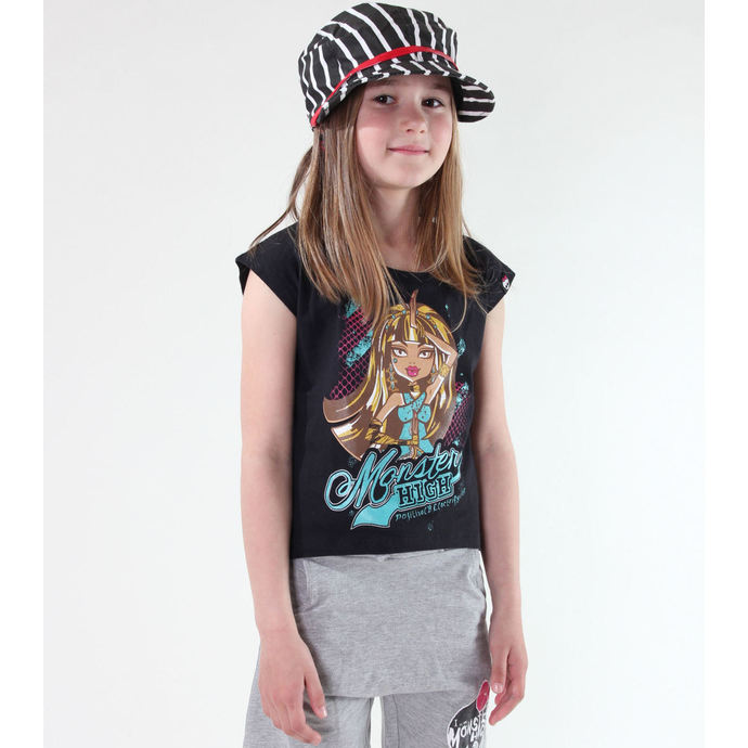 tričko dívčí TV MANIA - Monster High - Black