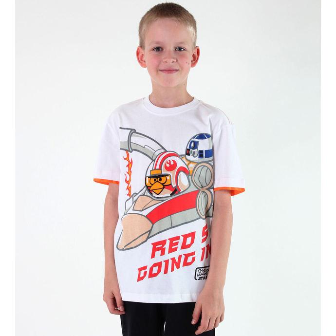 tričko chlapecké TV MANIA - Angry Birds / Star Wars - White