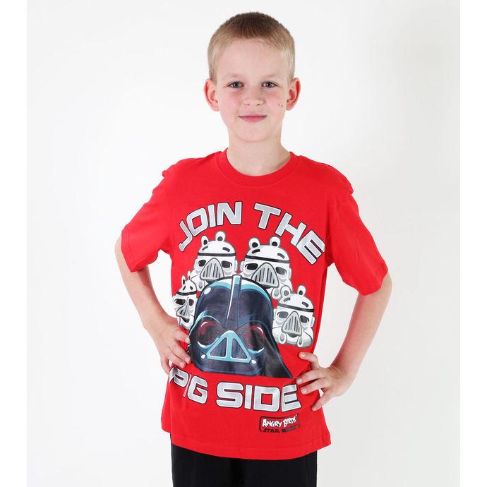 tričko chlapecké TV MANIA - Angry Birds / Star Wars - Red