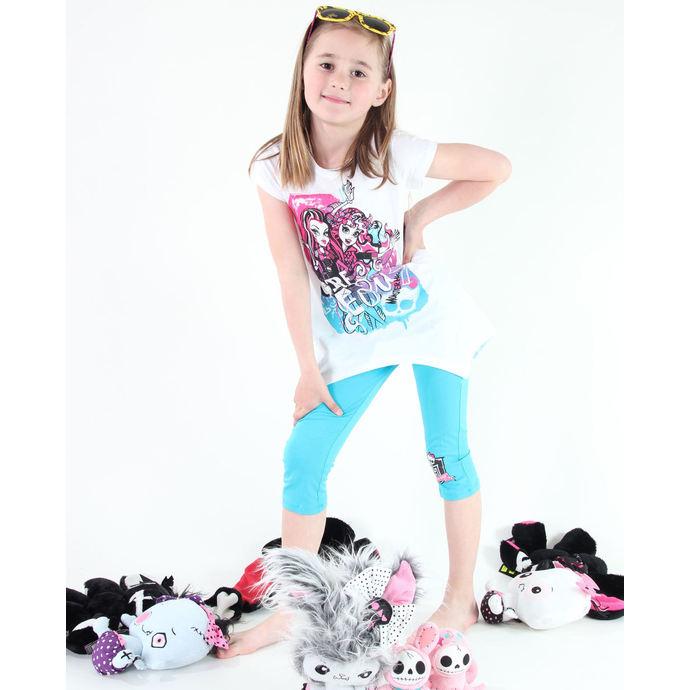set dívčí ( tričko, legíny) TV MANIA - Monster High - White