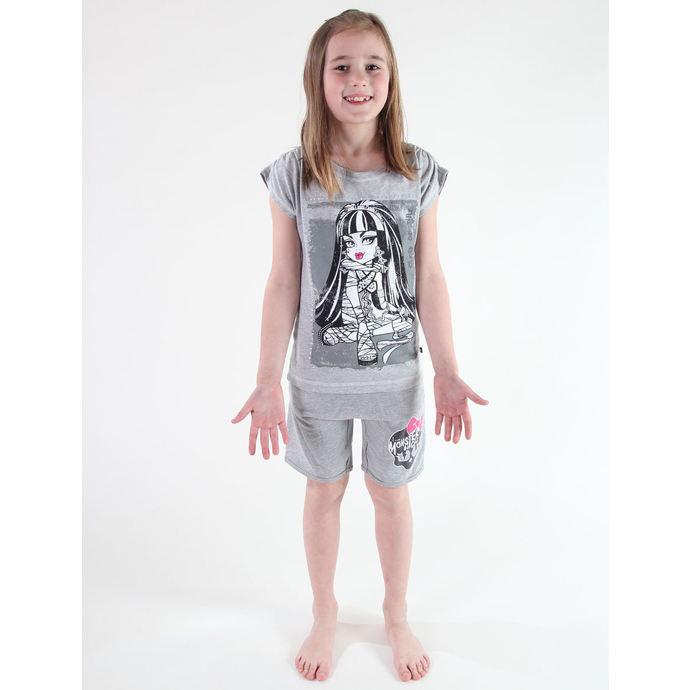 kraťasy dívčí TV MANIA -  Monster High - Grey