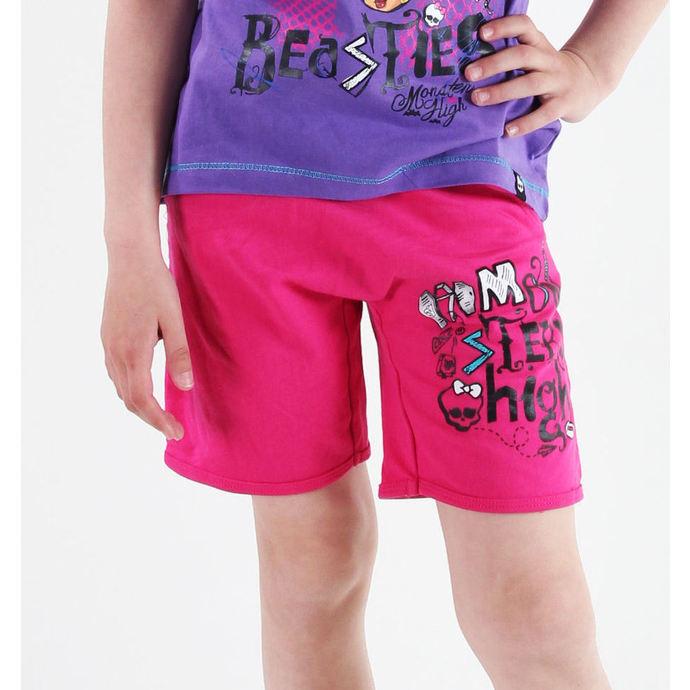 kraťasy dívčí TV MANIA - Monster High - Pink