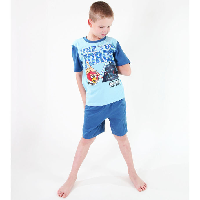 pyžamo chlapecké TV MANIA - Angry Birds / Star Wars - Turquise