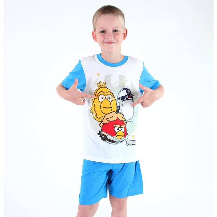 pyžamo chlapecké TV MANIA - Angry Birds / Star Wars - White