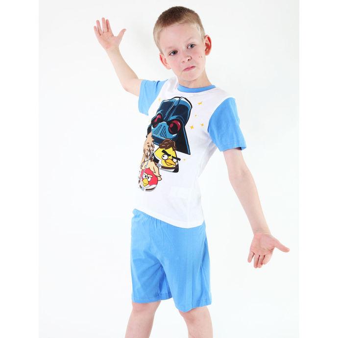 pyžamo chlapecké TV MANIA - Angry Birds/Star Wars - White