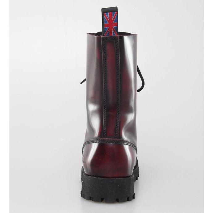 boty NEVERMIND - 10 dírkové - Bordeaux Polido