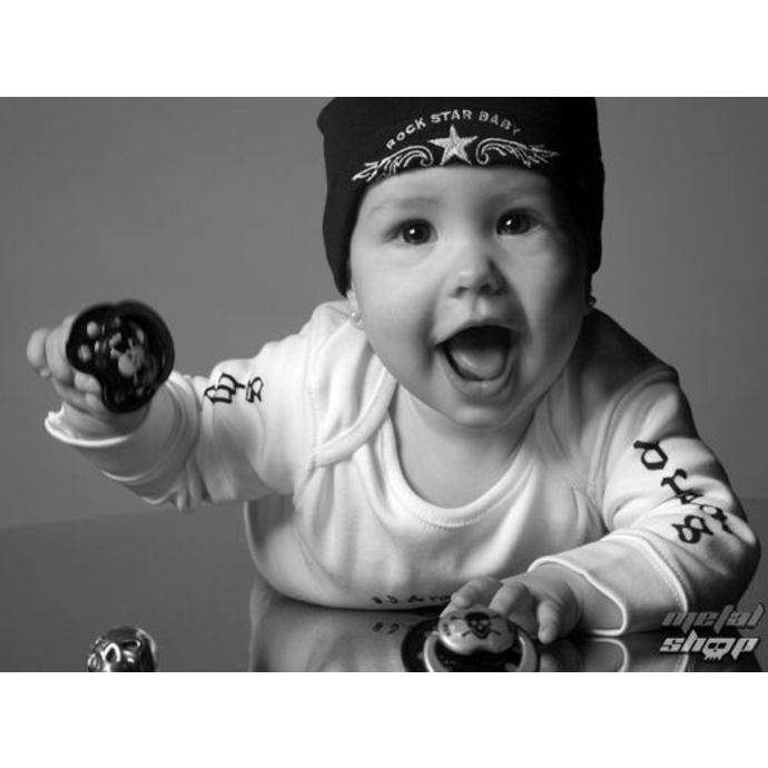 dudlík ROCK STAR BABY - Zebra