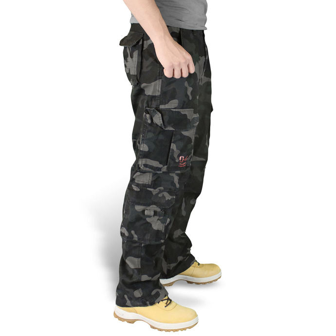 kalhoty pánské SURPLUS - Airborne Vintage Trousers - Black Camo