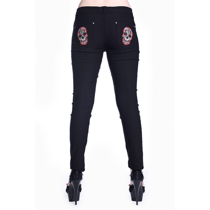 kalhoty dámské BANNED - Sugar Skull - Black