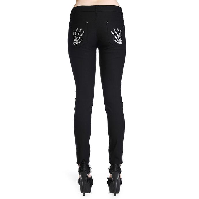 kalhoty dámské BANNED - Skeleton Hands - Black
