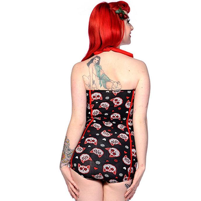 plavky dámské BANNED - Sugar Kitty - Black/Red