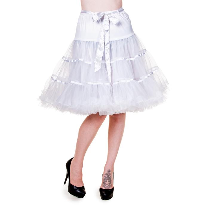 sukně dámská (spodnička) BANNED - Petticoat Ribbon - White