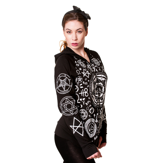 mikina dámská BANNED - Pentagram -  Black